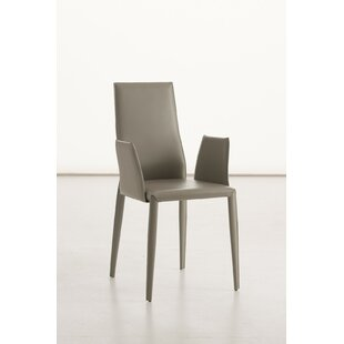 Data B Genuine Leather Upholstered Dining Chair by YumanMod