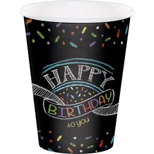 Chalk Birthday Paper Disposable Cup (Set of 24)