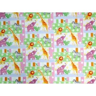 Bargain Jungle Animals and Dots Mini Fitted Crib Sheet BySheetworld