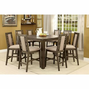 Livingon 9 Piece Counter Height Extendable Dining Set