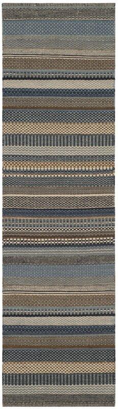 Kilim Hand Tufted Wool Blue Area Rug