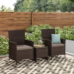 Dermody 3 Piece Bistro Set with Cushions