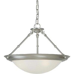 3-Light Convertible Inverted Pendant