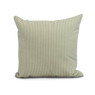 Kaylor Ticking Stripe Indoor/Outdoor Throw Pillow