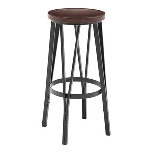 Andera Adjustable Height Bar Stool by Williston Forge