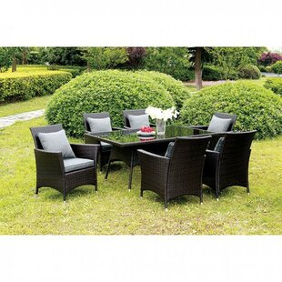 Comparison Allendale Ultra Comfortable Wicker Patio Dining Table ByCanora Grey