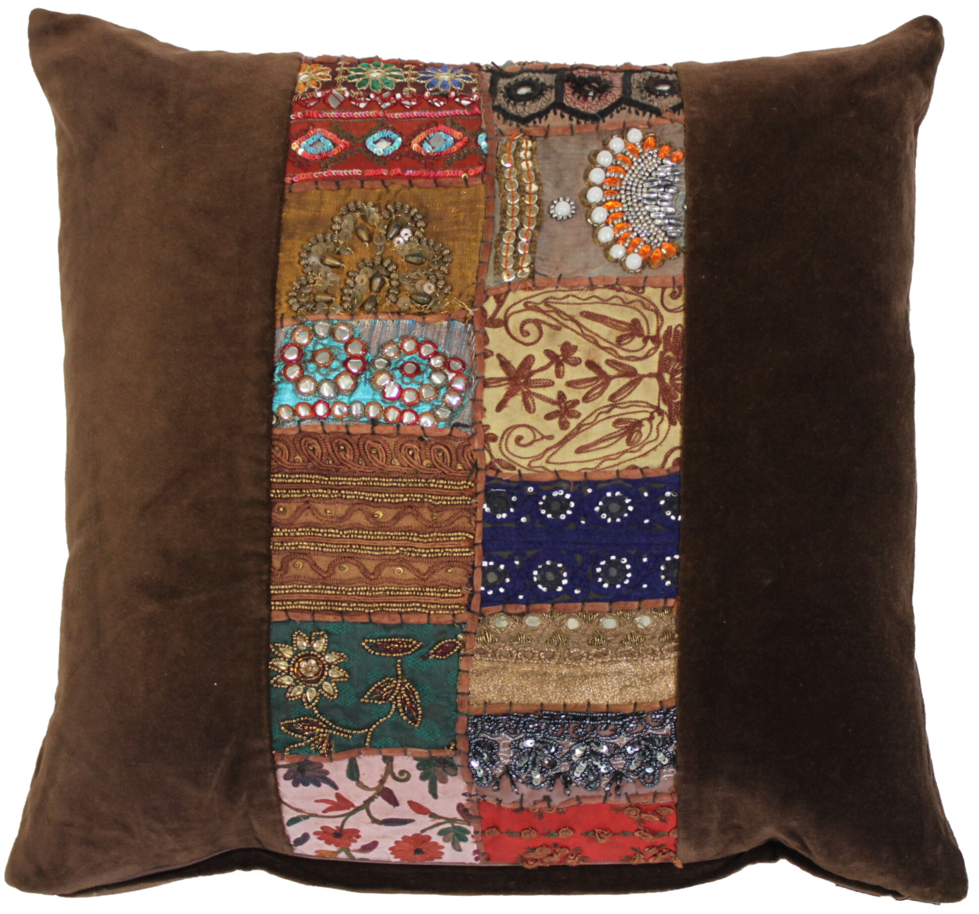 Ethnic Restoration Velvet Throw Pillow