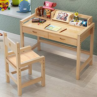 Donnie Kids Kids Study Desk and Chair Set with Kids Hutch by Harriet Bee