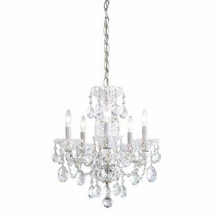 Schonbek chandeliers youll love wayfair sterling 5 light chandelier by schonbek aloadofball Choice Image