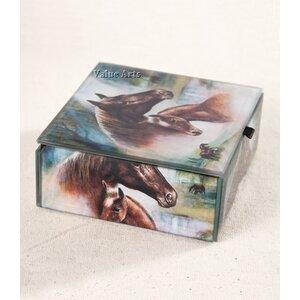 Horse Family Keepsake Accessory Box by Value Arts Company