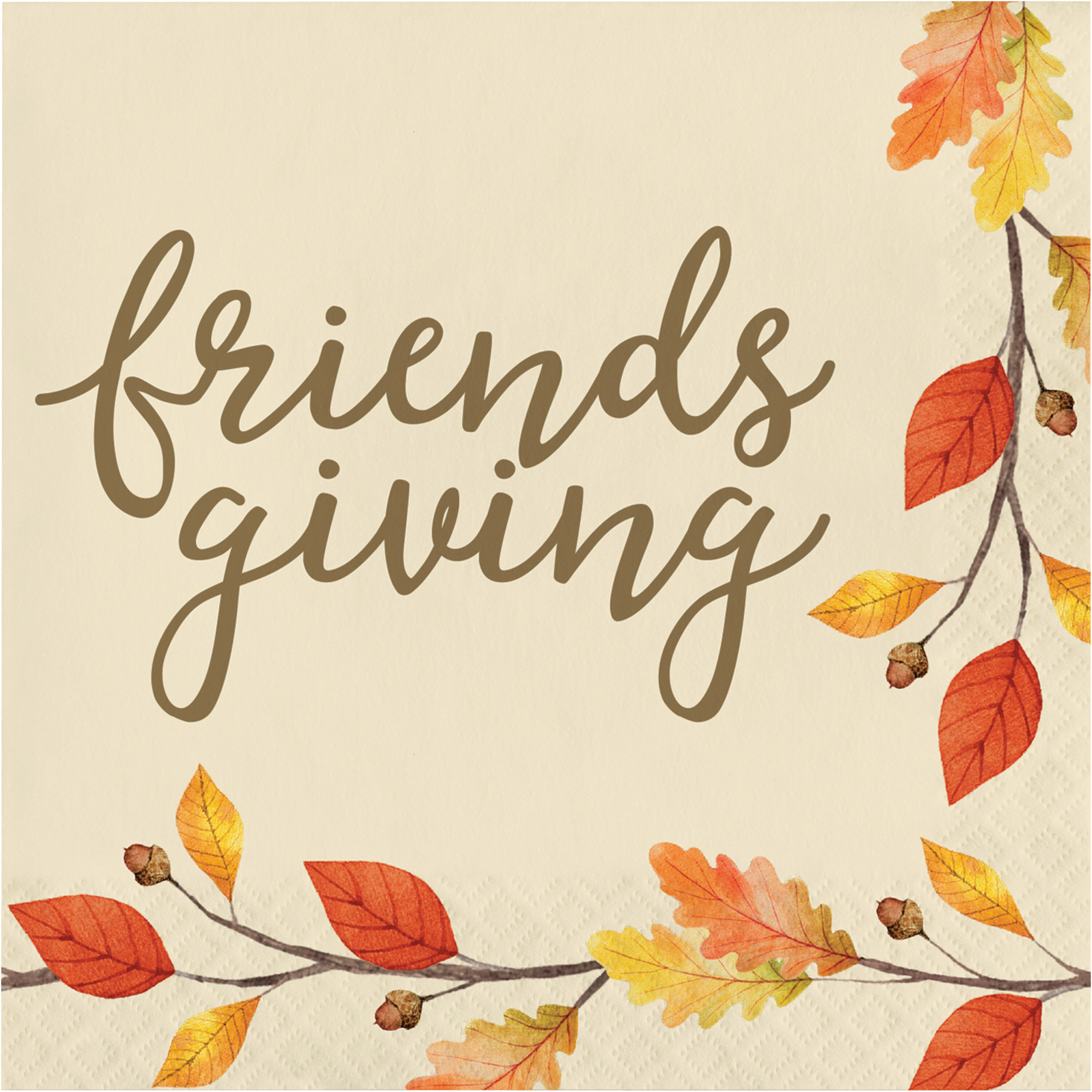 Creative Converting Thankful Friendsgiving Basic Paper Disposable Napkin Wayfair