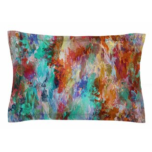 Ebi Emporium 'The Nexus 1, Orange Aqua' Painting Sham