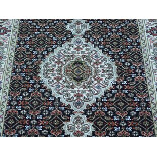 Buying One-of-a-Kind Christa Mahi Handwoven Black Wool/Silk Area Rug By Isabelline