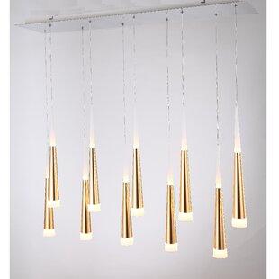 Wadley 10-Light LED Cluster Pendant by Orren Ellis