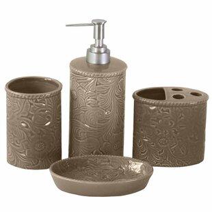 Three Posts Ahlers 4-Piece Bathroom Accessory Set