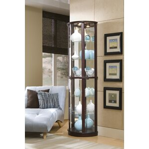 Chesapeake Narrow Lighted Curio Cabinet by Red Barrel Studio