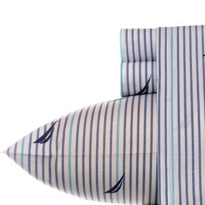 200 thread count cotton percale sheet set - Striped Sheets