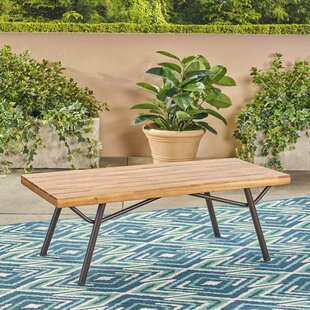 Linch Acacia Wood Coffee Table by Mercury Row Best #1