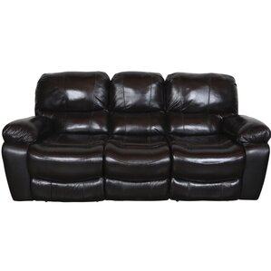 Gracehill Leather Reclining Sofa by Three Posts
