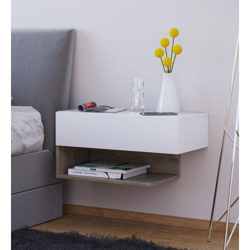 Nachttisch Foerer | Schlafzimmer | Weiß/beige | 17 Stories