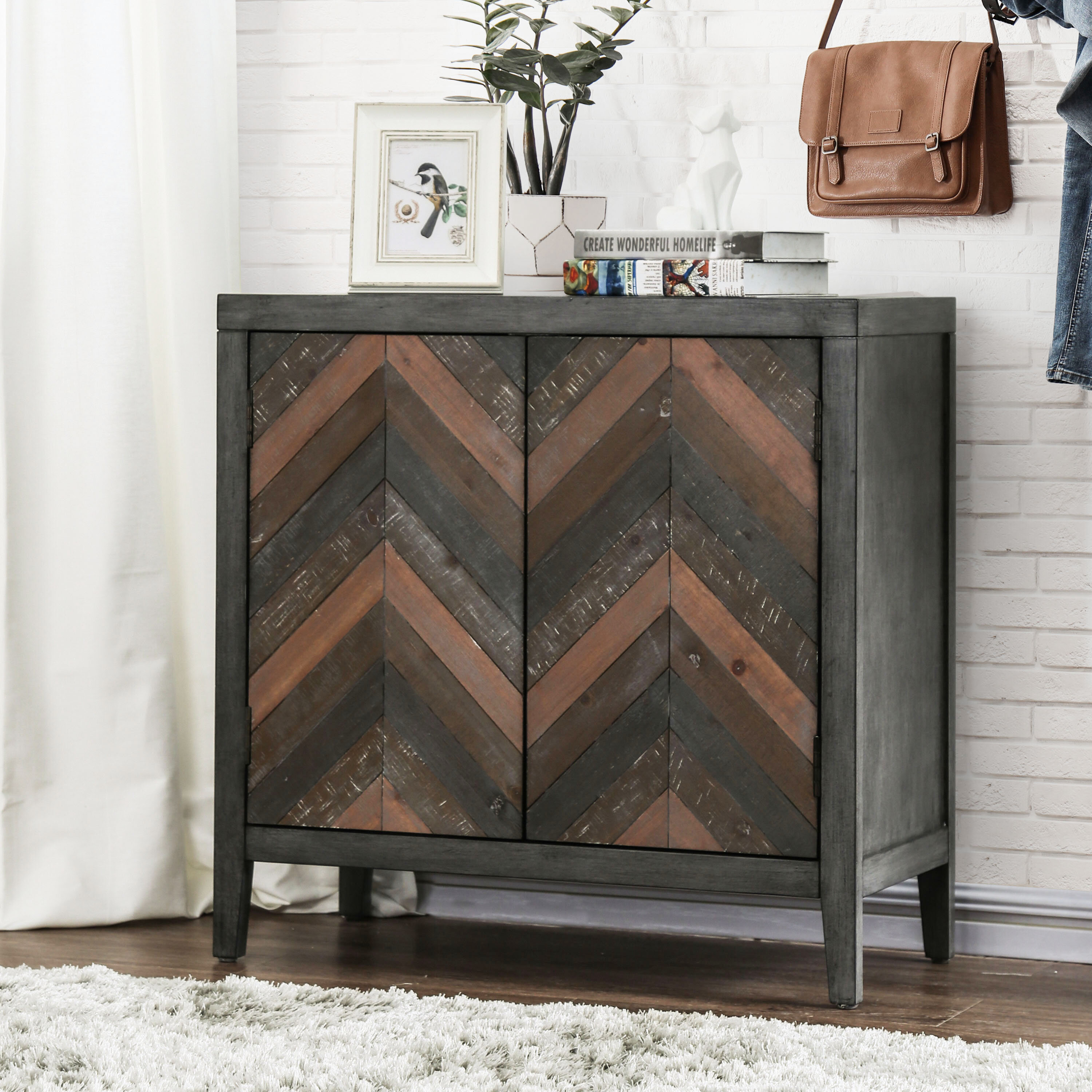 Union Rustic Shinault 2 Doors Accent Cabinet Wayfair