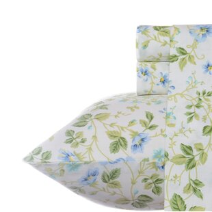 Laura Ashley Home Spring Bloom 300 Thread Count 100% Cotton Sheet Set