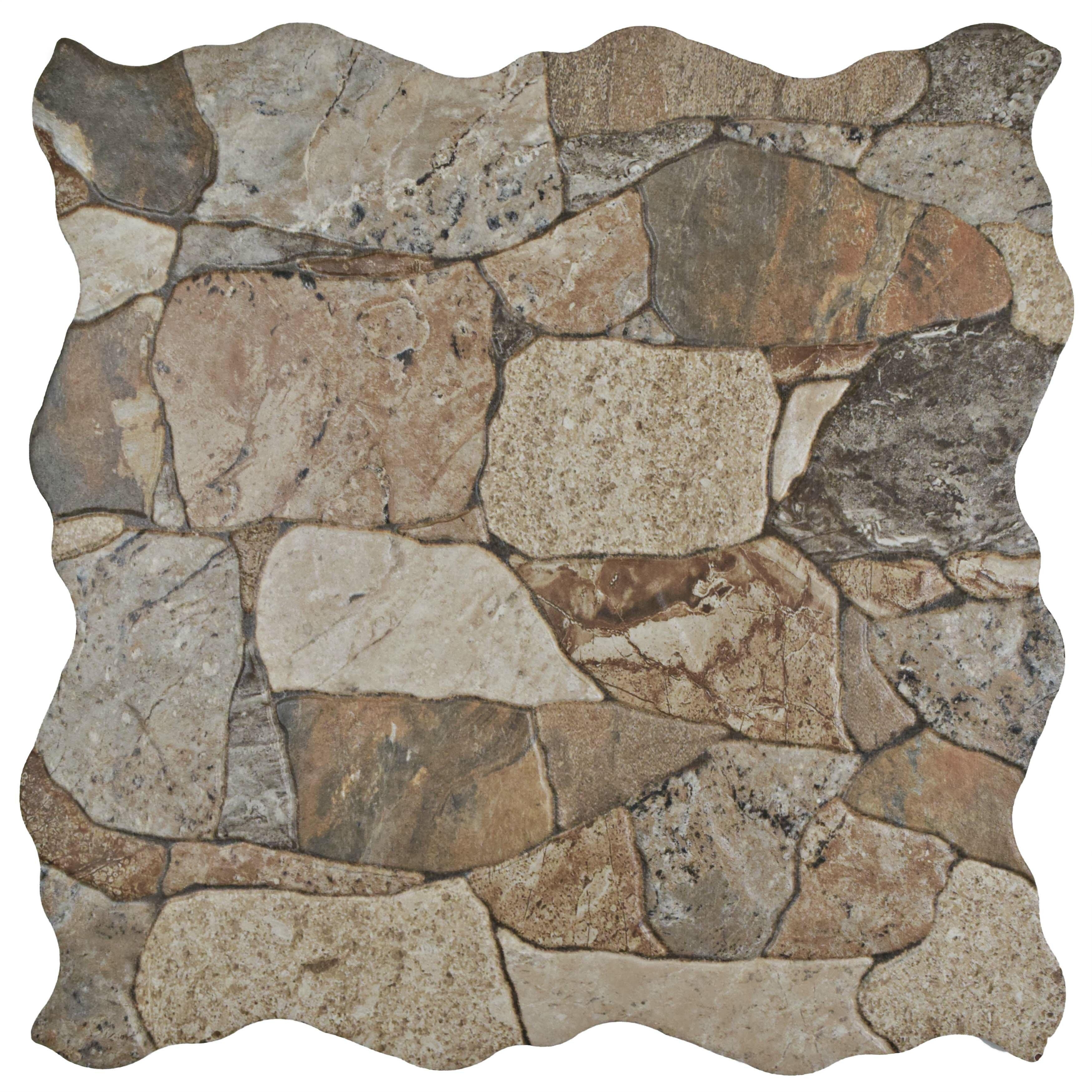 Vintage floor tile wayfair atticas random sized ceramic splitface tile in brown dailygadgetfo Choice Image