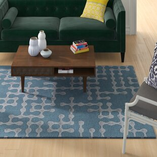 Great Price Serpentis Hand-Hooked Bright Blue/Sage Area Rug By Wrought Studio