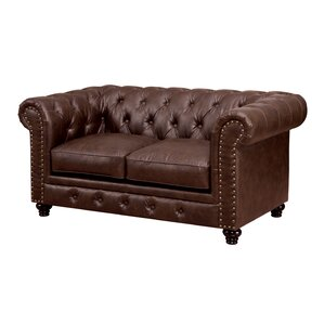 Darby Home Co Lindstrom Tufted Chesterfield Loveseat