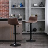 Rolland Swivel Adjustable Height Bar Stool (Set of 2) by Williston Forge