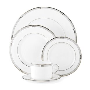 Westerly Platinum Bone China 5 Piece Place Setting, Service for 1