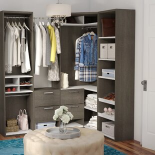 Online Reviews Wilbur Premium Corner Walk 75.9 W Closet System By Rebrilliant