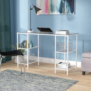Arinda Glass Writing Desk