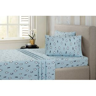 Tatem Flannel Penguin Sheet Set