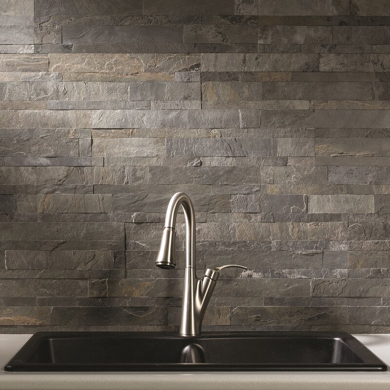 Aspect 6 X 24 Natural Stone Slate Mosaic Tile Reviews Wayfair