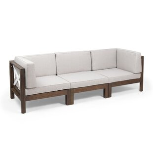 Patel Outdoor Modular Patio Sofa With Cushions By Breakwater Bay
