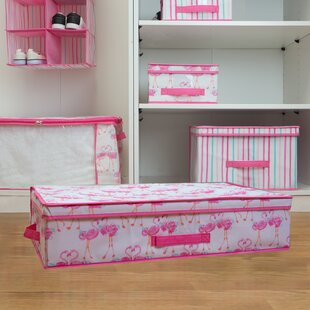 Savings Kids Fabric Underned Storage Box in Pretty Flamingo By Laura Ashley