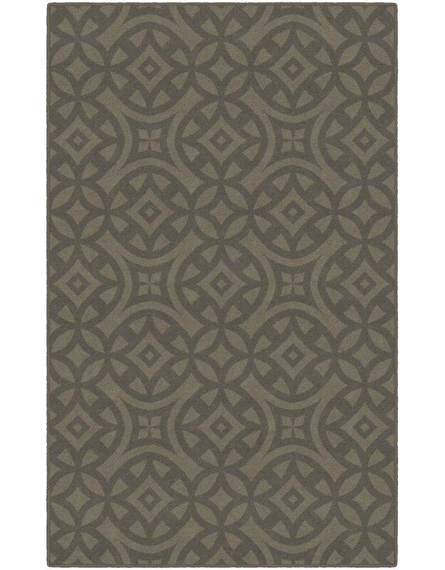 World Menagerie Metz Trellis Brown Area Rug, Size: Rectangle 76 x 10