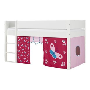 Annora European Single Mid Sleeper Bed With Curtain By Harriet Bee