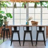 Whisler Slat Back Stacking Dining Chair in Black (Set of 4) by Williston Forge