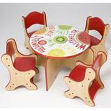 Fresh Fruit Kids 5 Piece Table and Chair Set by Playscapes