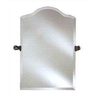 Alcott Hill Day Scallop Top Frameless Wall Mirror