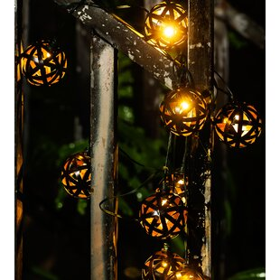 Winsome House Metal Balls 10-Light Globe String Lights