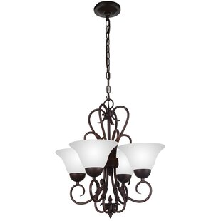 CWI Lighting Maddy 4-Light Shaded Chandelier