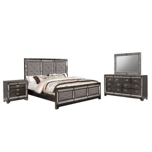 Alpheus Panel 4 Piece Bedroom Set