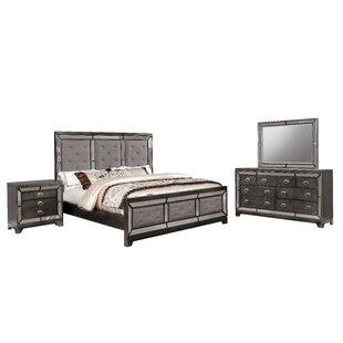 Alpheus Panel 4 Piece Bedroom Set