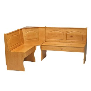August Grove Patty Solid Wood Corner Corner Bench