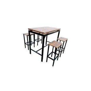 Bratton 5 Piece Pub Table Set
