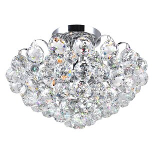 Glimmer 4-Light Semi Flush Mount by CWI Lighting