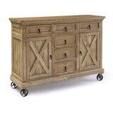 Schroder 63 Wide 6 Drawer Pine Wood Sideboard by Gracie Oaks